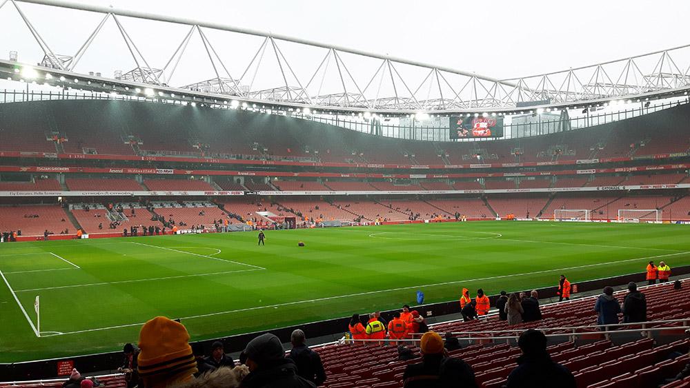Emirates Stadium prior to kick off