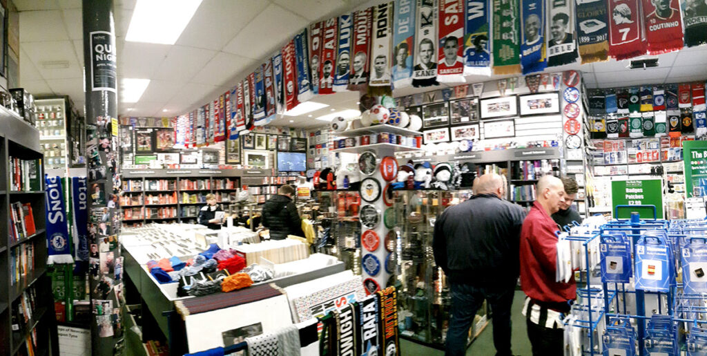 Panoramic photo inside the Back Page Shop Newcastle