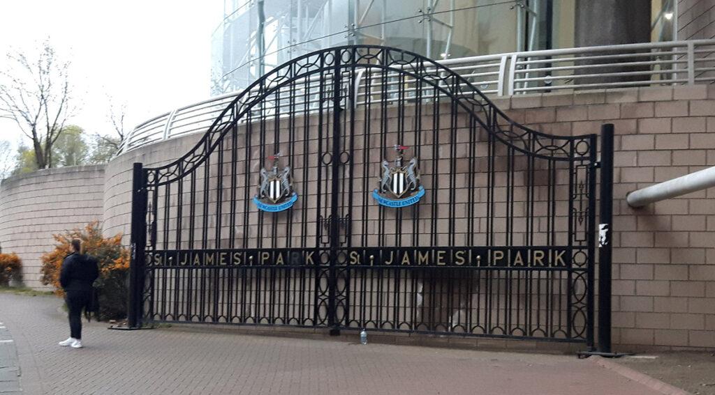 The old St James' Park gates
