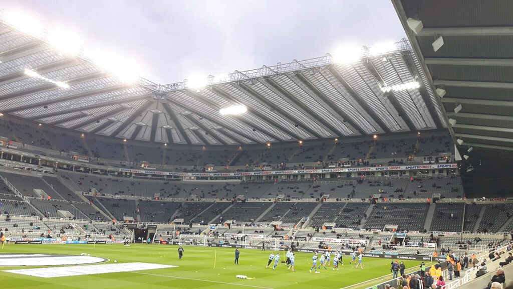 The Leazes Stand at St James' Park