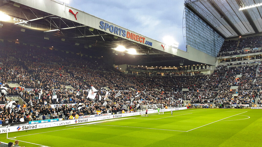 The Gallowgate End at St James' Park Newcastle