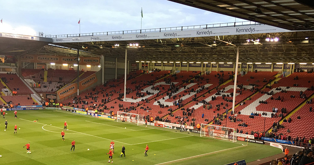 The Kop at Bramall Lane the home of Sheffield United