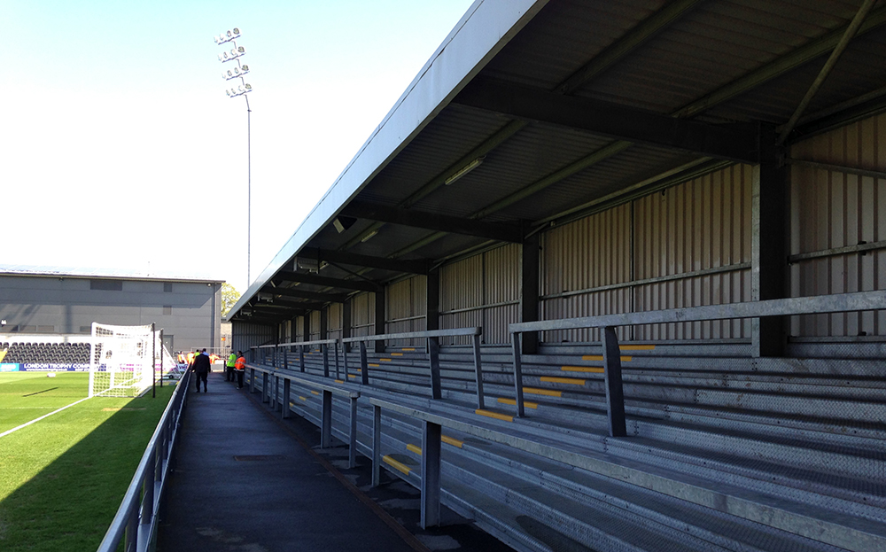 The home terrace at the Hive Stadium