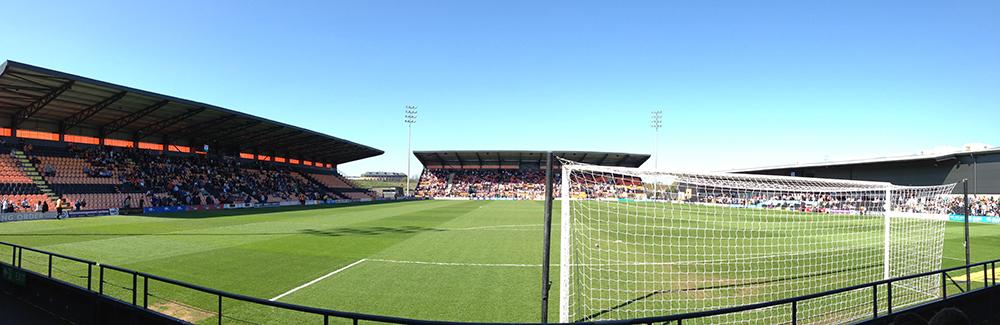 Panoramic photo of the Hive Stadium, home of Barnet FC