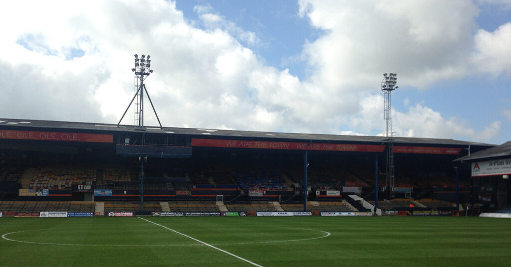 The Main Stand at Kenilworth Road, the home of Luton Town