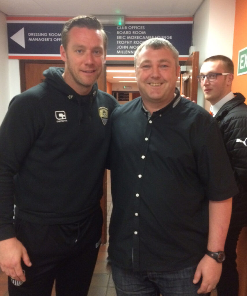 Meeting Notts County manager and former Newcastle player Kevin Nolan