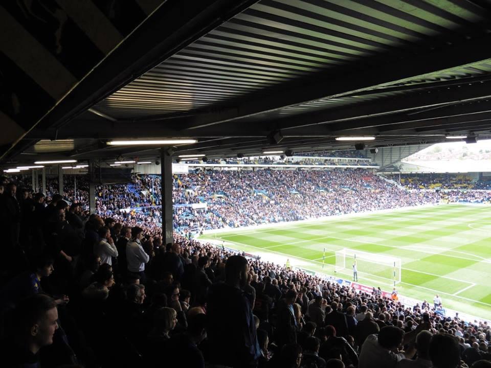 Leeds fans inside Elland Road
