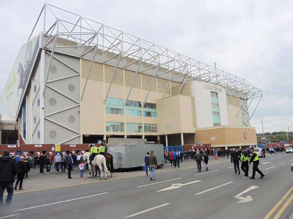 Outside Elland Road the home of Leeds United FC