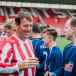 Matthew Le Tissier taking part in play with a legend at the St Marys' Stadium Southampton