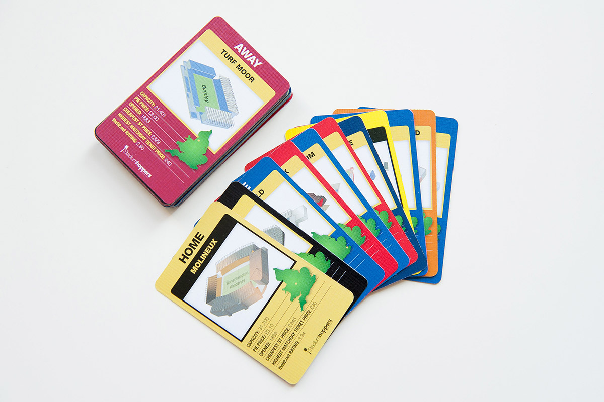 Stadium Hoppers doing the 92 themes Terrace Battles card game