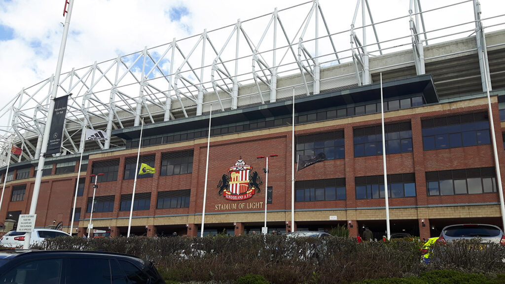Main entrance at the Stadium of Light
