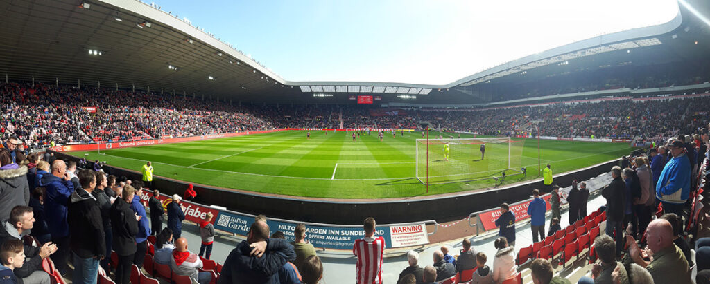 Panoramic shot of the Stadium of Light the home of Sunderland football club