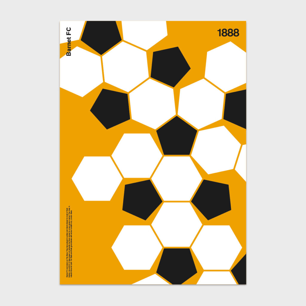 Dinkit 92 editions print - Barnet FC the bees