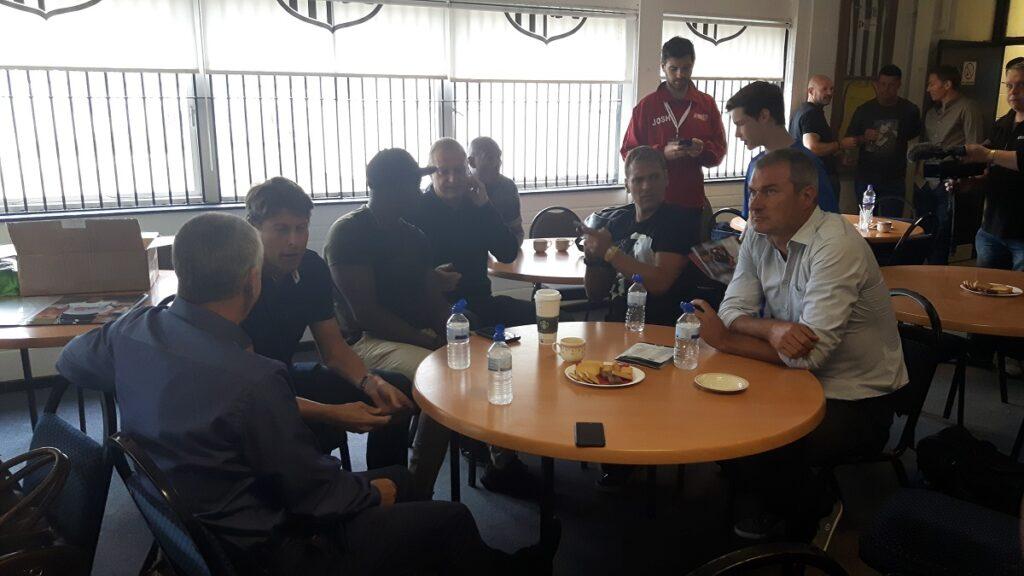 Premier league legends at the no league challenge Corby