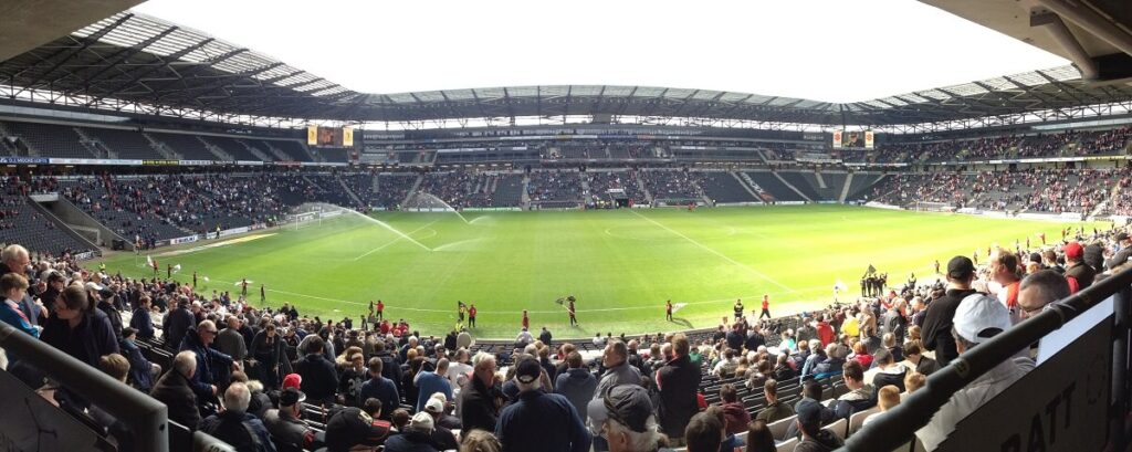 Panoramic photo of Stadium MK the home of MK Dons