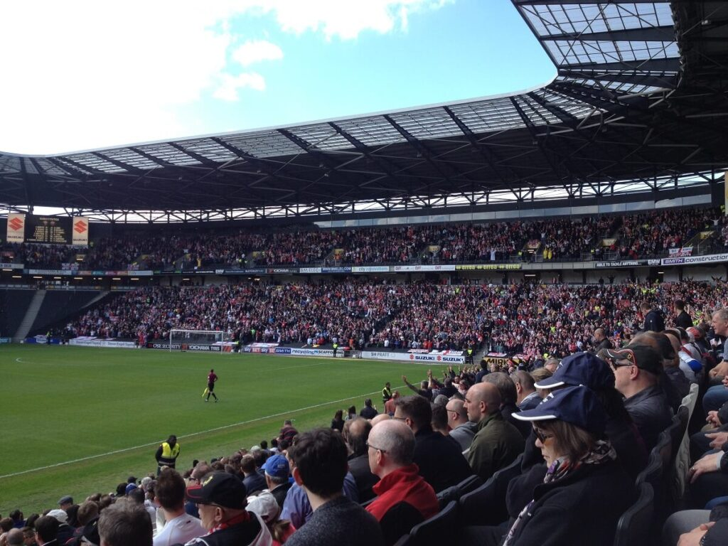 Sheffield United fans at Stadium MK