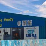 The Jamie Vardy Stand at the Look Local Stadium Stocksbridge Park Steels