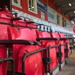 Seats at the Lamex Stadium the home of Stevenage FC