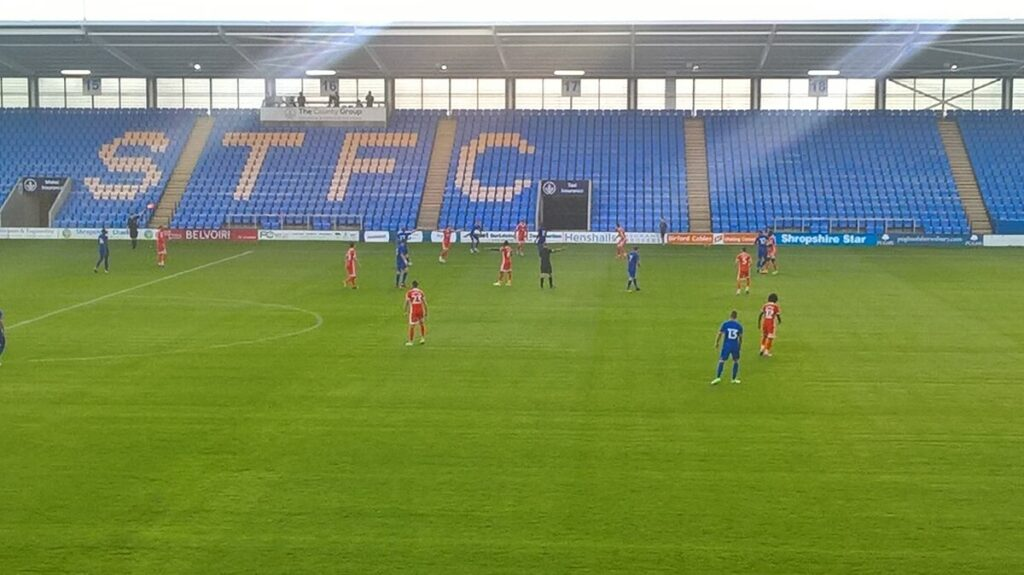 Shrewsbury v Cardiff at New Meadow (Montgomery Waters Meadow)