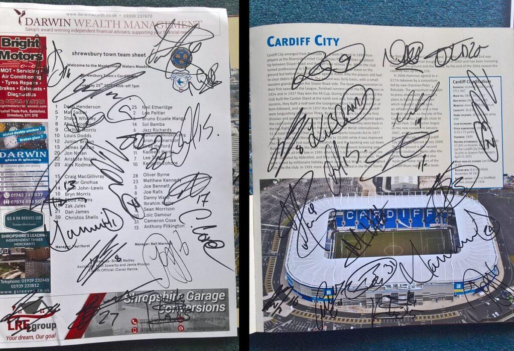 Cardiff City Autographs