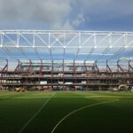 New stand being build at Tynecastle the home of Heart of Midlothian