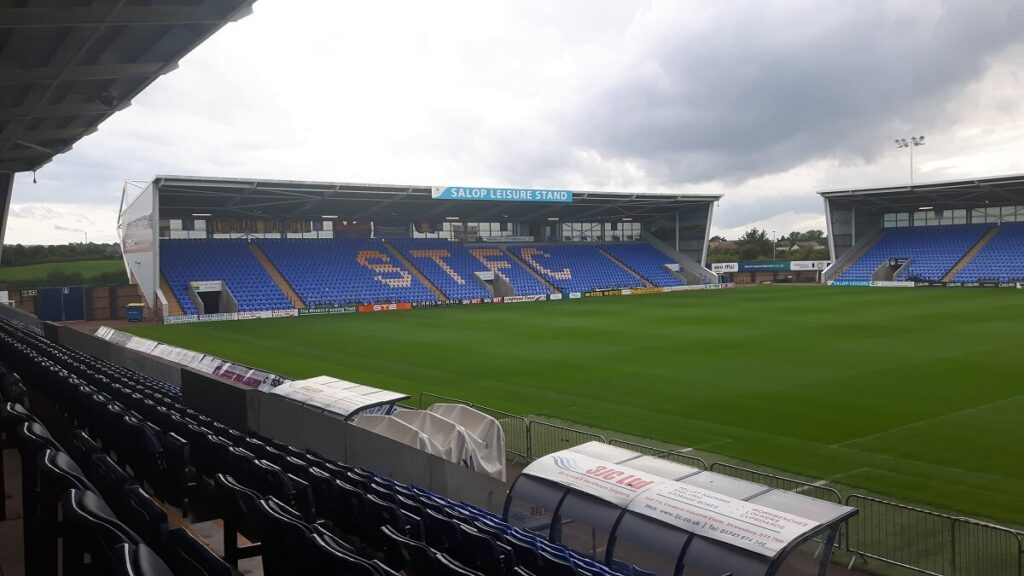 Salop Leisure South Stand Shrewsbury Town
