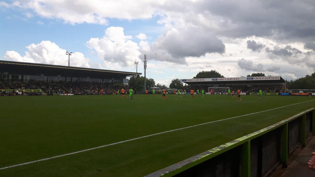 Forest Green Rovers v Barnet FC at the New Lawn