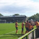Barnet celebrate equalising at Forest Green Rovers