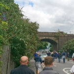 The famous railway bridge on the way to The New Den.