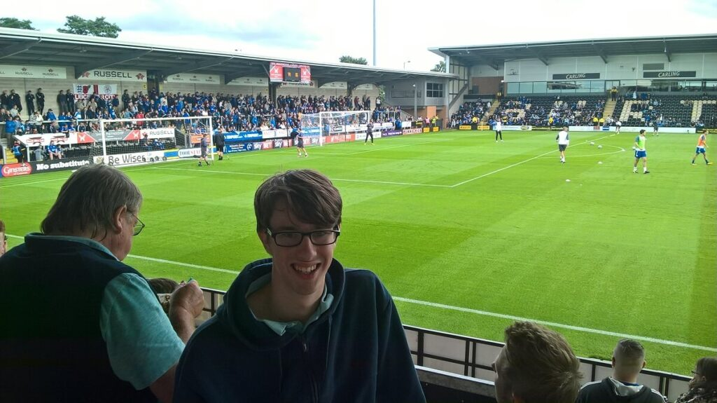 Away terrace at the Pirelli Stadium