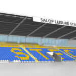 Mock up of how the safe standing installation at Shrewsbury Town will look