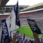 Spurs fly flag at the new Wembley.