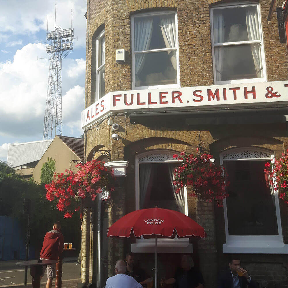 The Griffin Pub, next to Brentford's Griffin Park