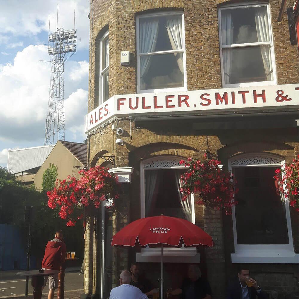 The Griffin Pub, next to Brentford's Griffin Park
