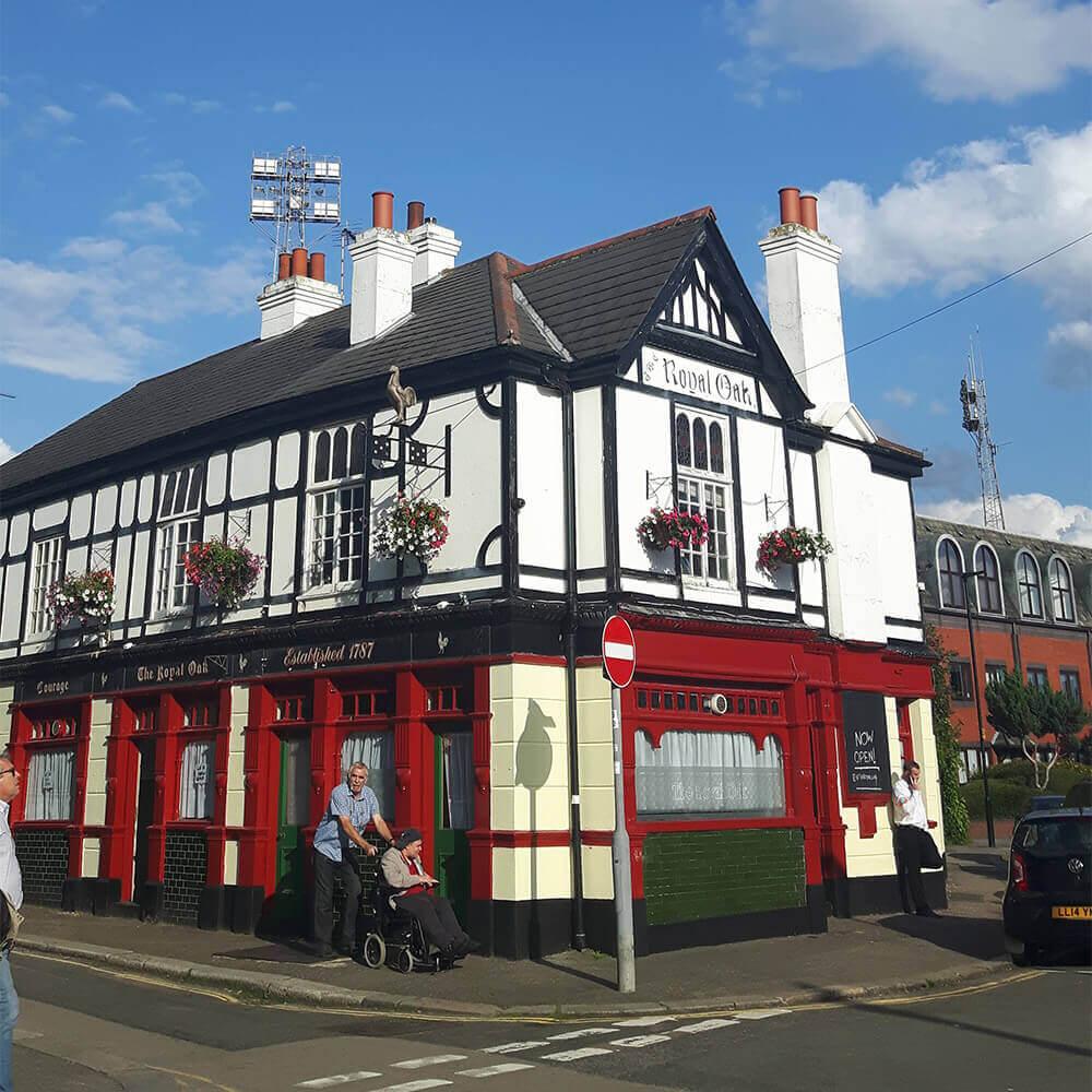 The Royal Oak Pub next to Brentford's Griffin Park