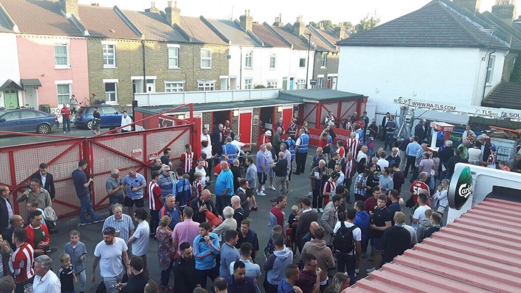 The open concourse behind the Braemar Road Stand