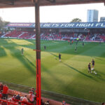 Griffin Park in the evening sunshine