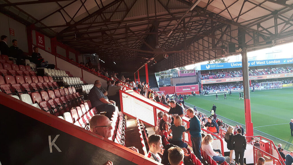 View down the Braemar Road Stand
