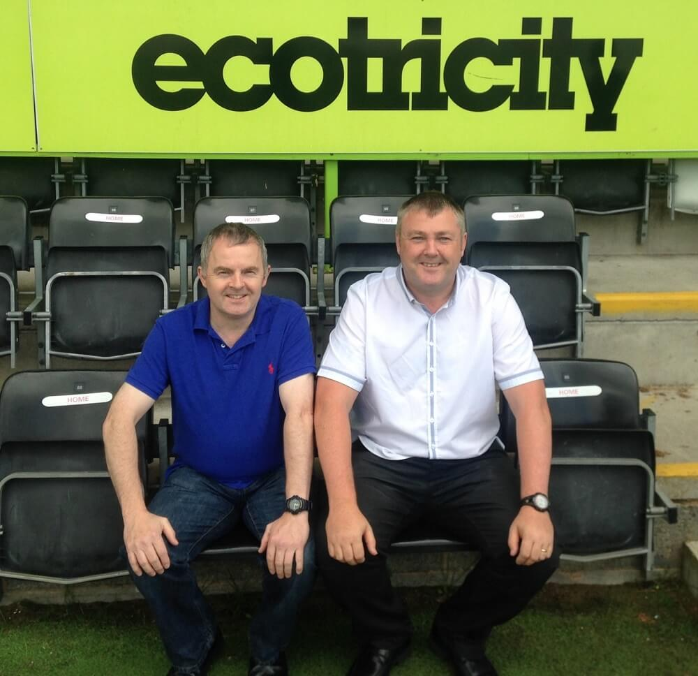 In the dugout at the new Lawn