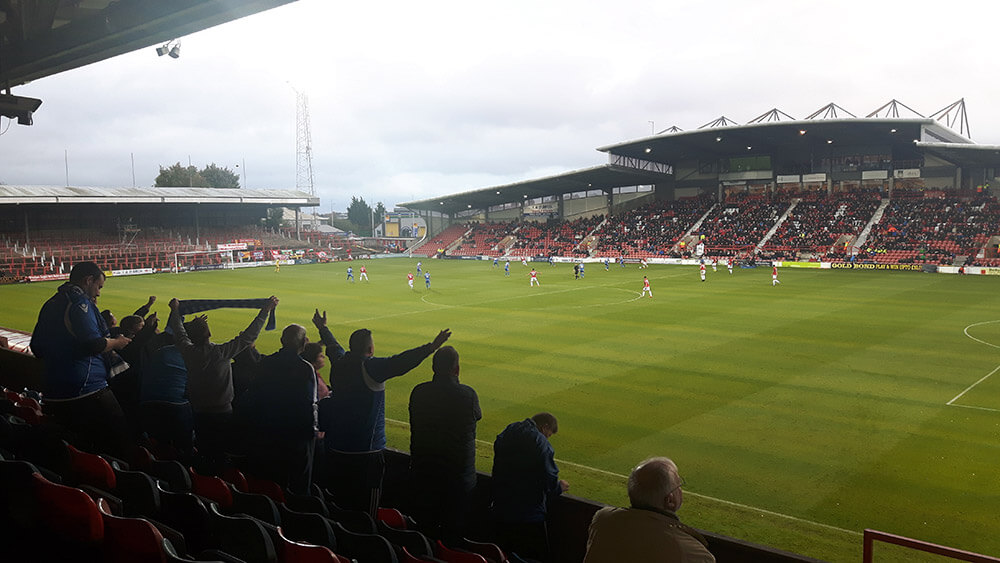 Eastleigh fans sing away at Wrexham