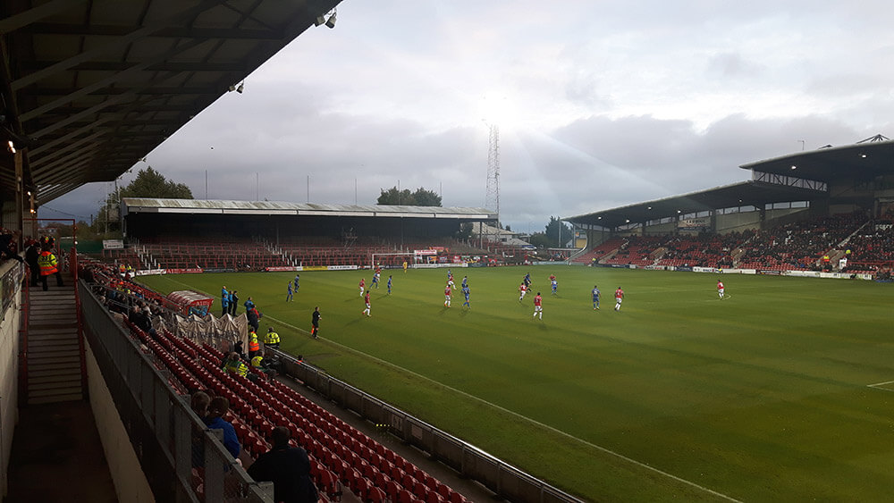 Wrexham v Eastleigh at the Racecourse Ground in the National League