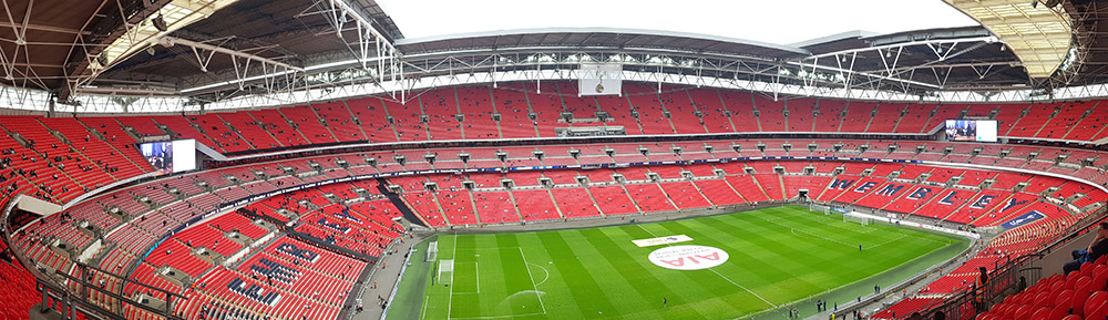Panoramic photo of Wembley Stadium