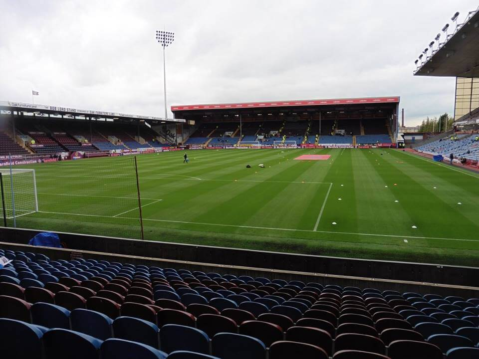 Turf Moor, the home of Premier League side Burnley