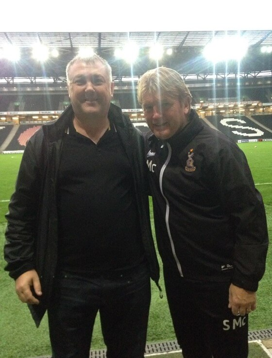 Colin meets Bradford City manager Stuart McCall