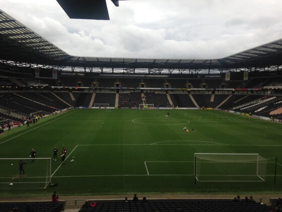 Stadium MK home of league 1 team MK Dons