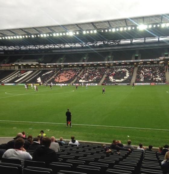 MK Dons v Bradford City in League 1 at Stadium MK