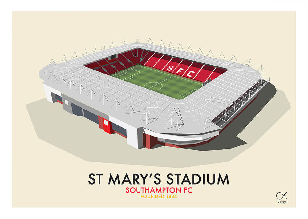 Southampton St Mary's Stadium print by Oli Knowles