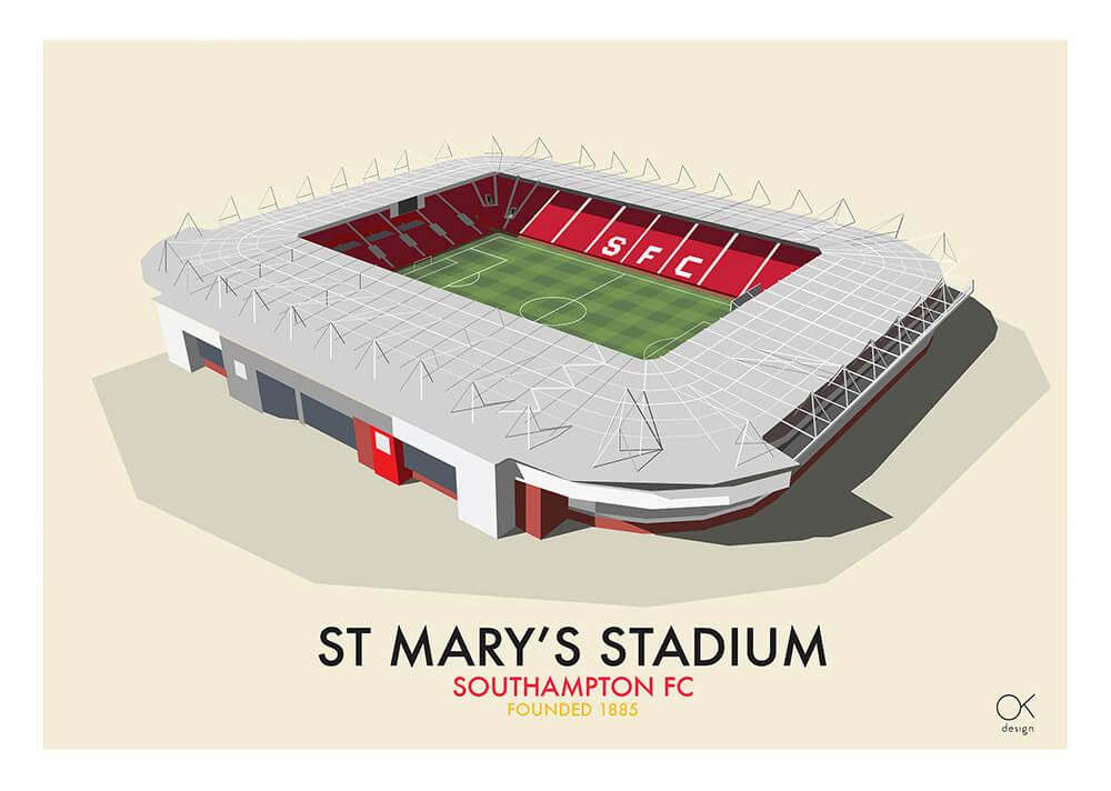 Southampton St Mary's Stadium print by Oli Knowles