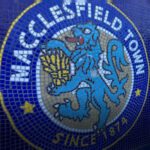 Mosaic mural at Moss Rose home of Macclesfield Town FC